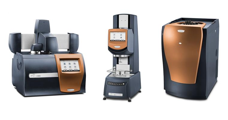 The Discovery X3 differential scanning calorimeter, Discovery hybrid rheometer, and the TAM IV Micro XL isothermal microcalorimeter